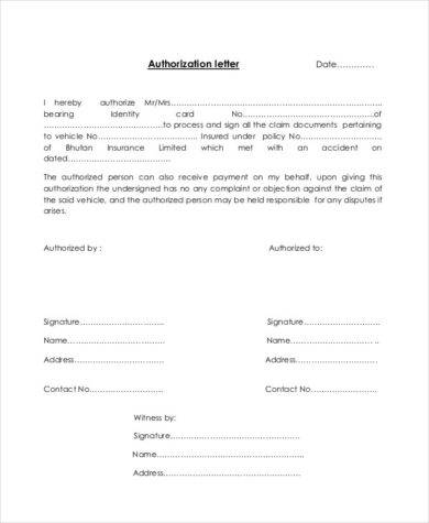 48+ Authorization Letter Examples - PDF, DOC - authorization sample letter