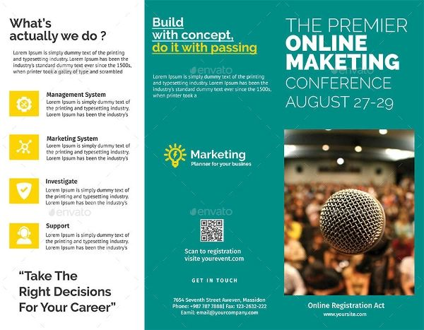 conference brochure examples