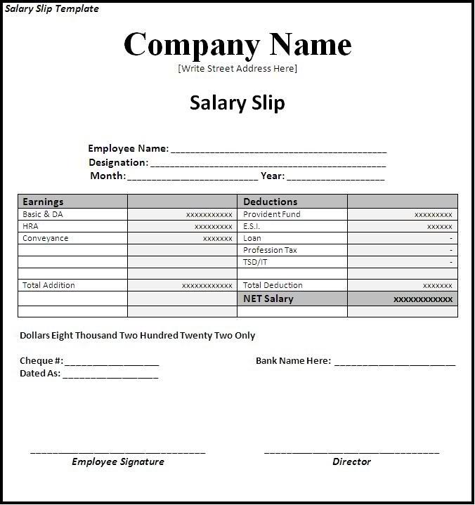 9+ Salary Slip Examples - PDF - pay in slips
