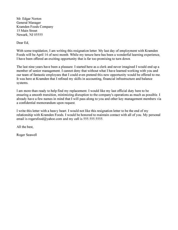 8+ Professional Resignation Letter Examples - PDF - Temporary Resignation Letter