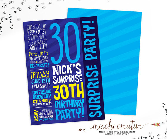 14+ Surprise Party Invitation Designs and Examples - PSD, A4