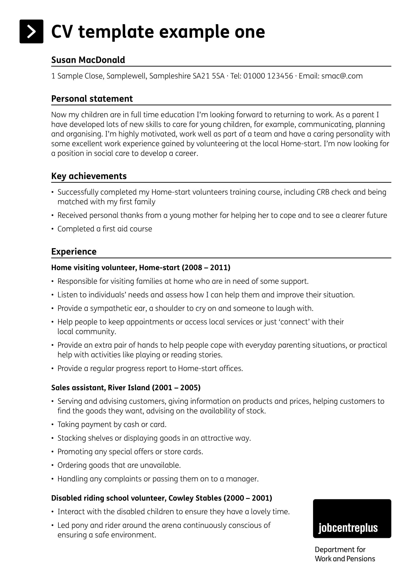 how to write personal profile in resume