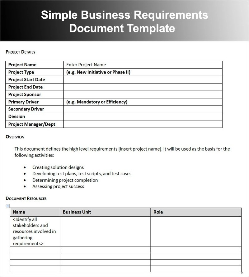12+ Business Requirements Document Examples - PDF - business requirements document template