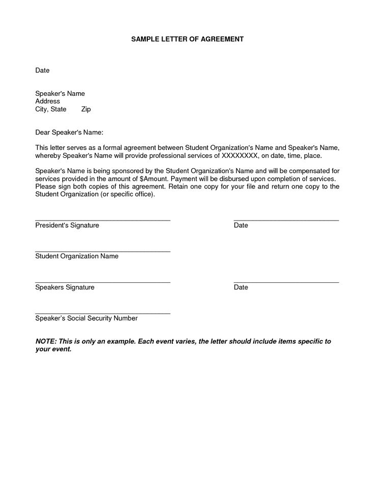 10+ Simple Agreement Letter Examples - PDF