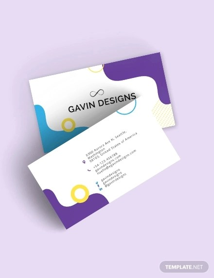 22+ Artist Business Card Templates - Word, PSD, AI Examples