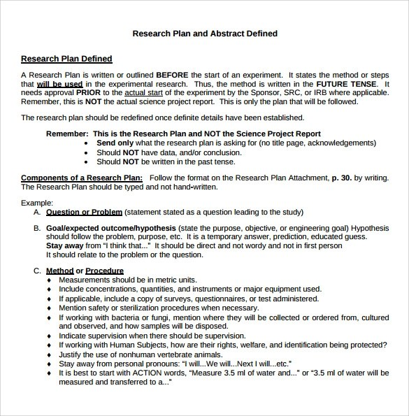 Research Plan Example Choice Image - example cover letter for resume