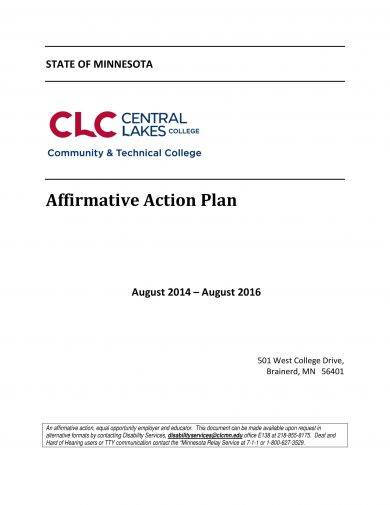 9+ Affirmative Action Plan Examples - PDF