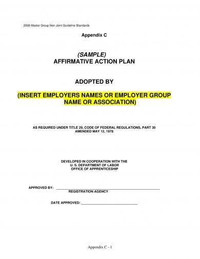 9+ Affirmative Action Plan Examples - PDF - affirmative action plan