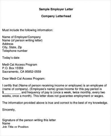 9+ Proof of Income Letter Examples - PDF Examples