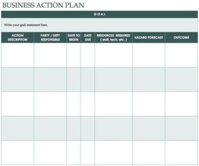 24+ Printable Work Action Plan Examples - PDF - action plan in pdf