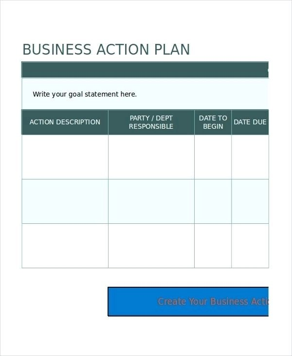 26+ Work Action Plan Examples - PDF