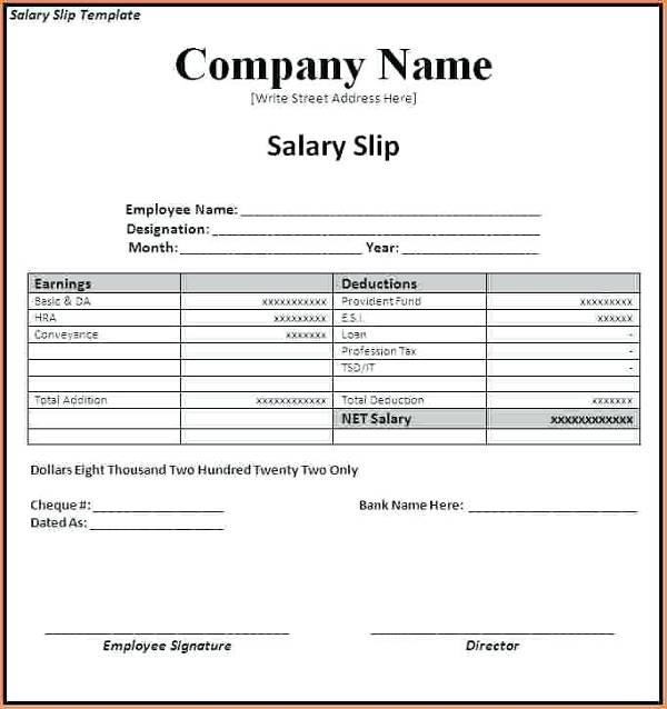 20+ Slip Templates  Examples - PDF