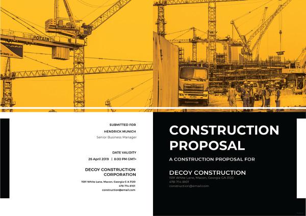 11+ Construction Proposal Examples - PDF, DOC, PSD, AI - construction proposal template