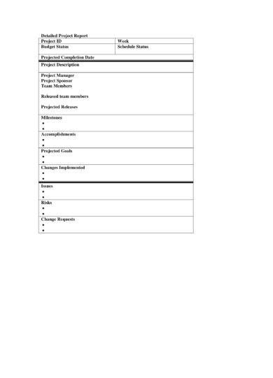 9+ Weekly Project Status Report Examples - PDF, Word - project status report template