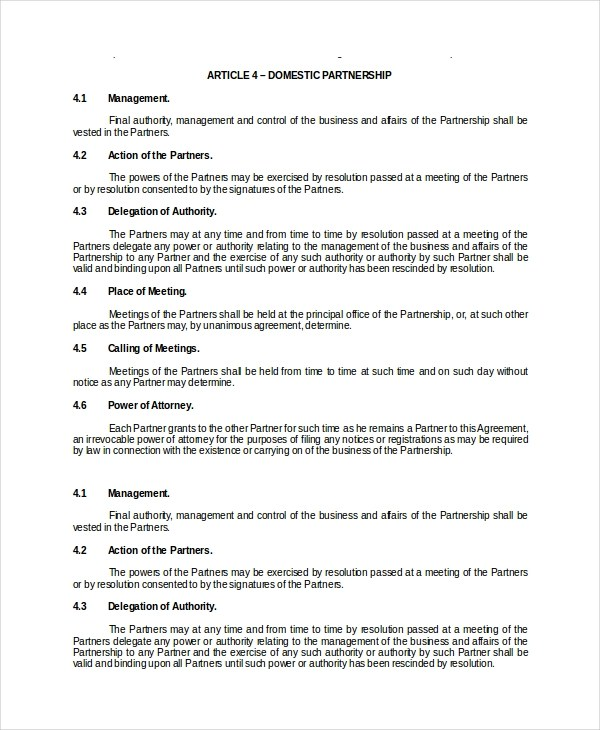 13+ General Partnership Agreement Samples and Examples - PDF, Word