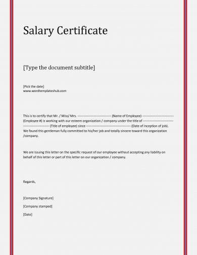 8+ Salary Verification Letter Examples - PDF Examples