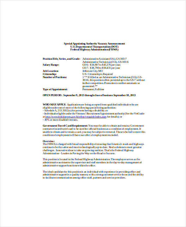 10+ Staff Announcement Examples - PDF, Doc Examples