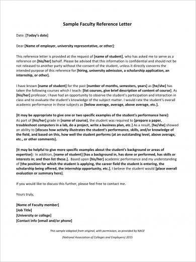 reference letter for students
