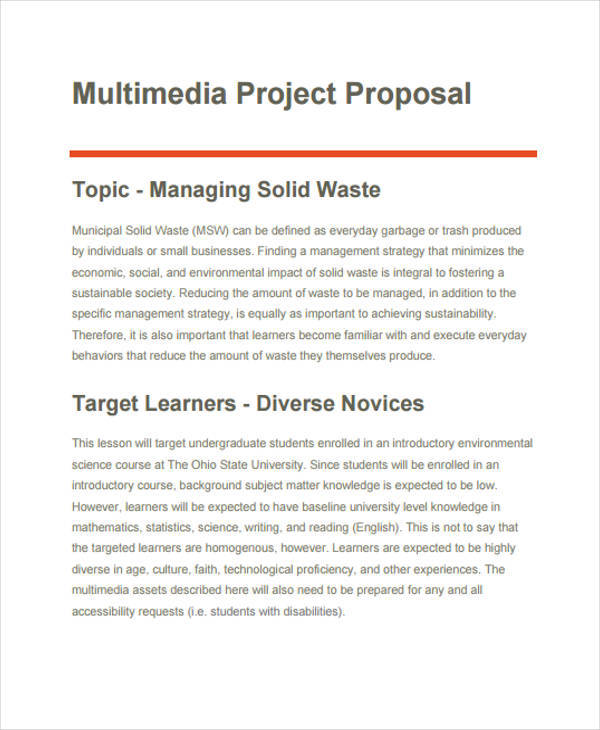 Formal Project Proposal Template Cvfreeo