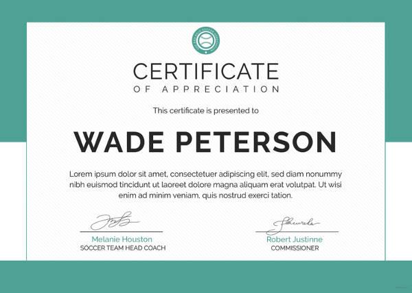 10+ Soccer Award Certificate Examples - PDF, PSD