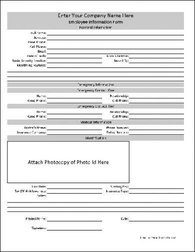 10+ Employee Information Form Examples - PDF, Word