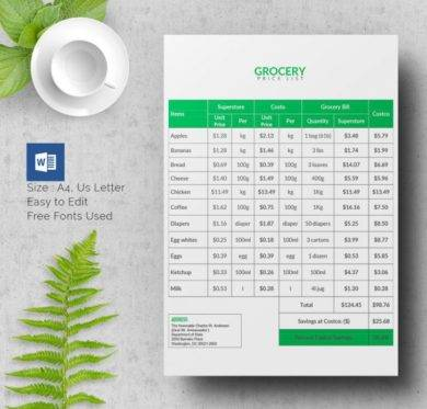 11+ Price List Templates and Examples - PDF Examples