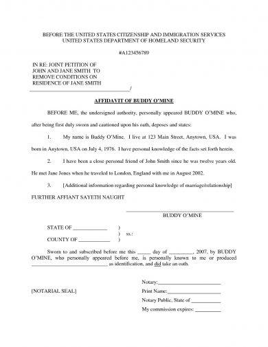 9+ Affidavit of Marriage Examples - PDF Examples