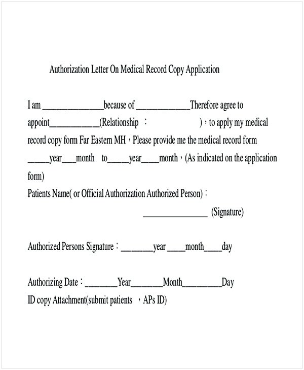 9+ Medical Authorization Letter Examples - PDF - sample medical authorization letter