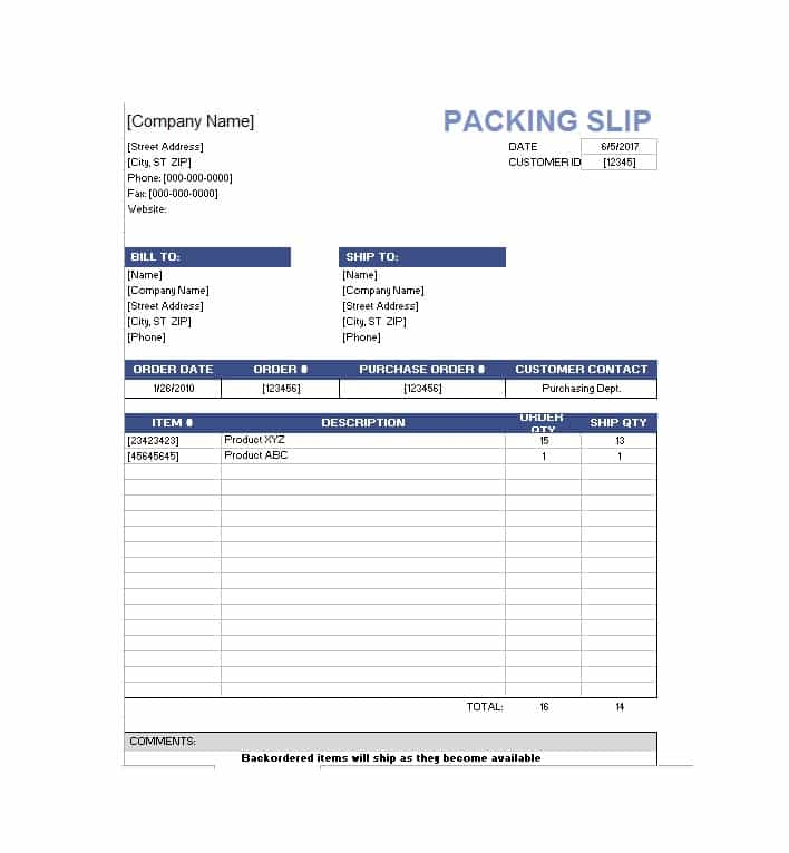 10+ Packing Slip Examples - DOC, XLS