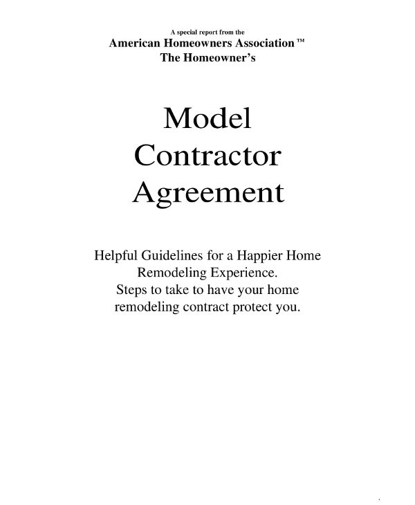 15 Contractor Agreement Examples - PDF