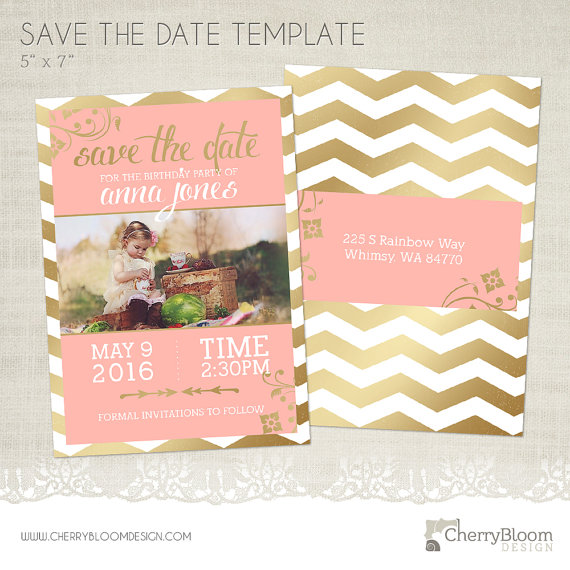 15+ Birthday Save-the-Date Designs and Examples - PSD, AI - save the date birthday template