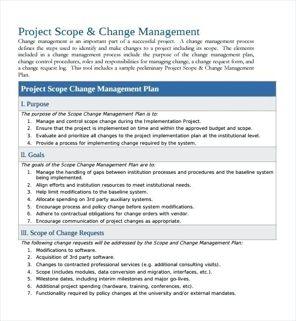 8+ Change Management Plan with Examples - PDF