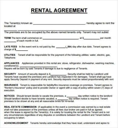 14+ Rental Agreement Letter Examples - PDF, Word, Apple Pages Examples