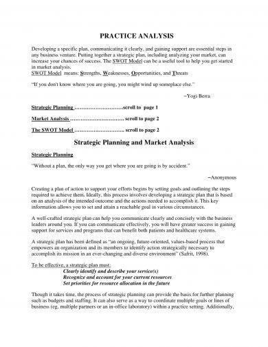10+ Marketing SWOT Analysis Examples - PDF, Word