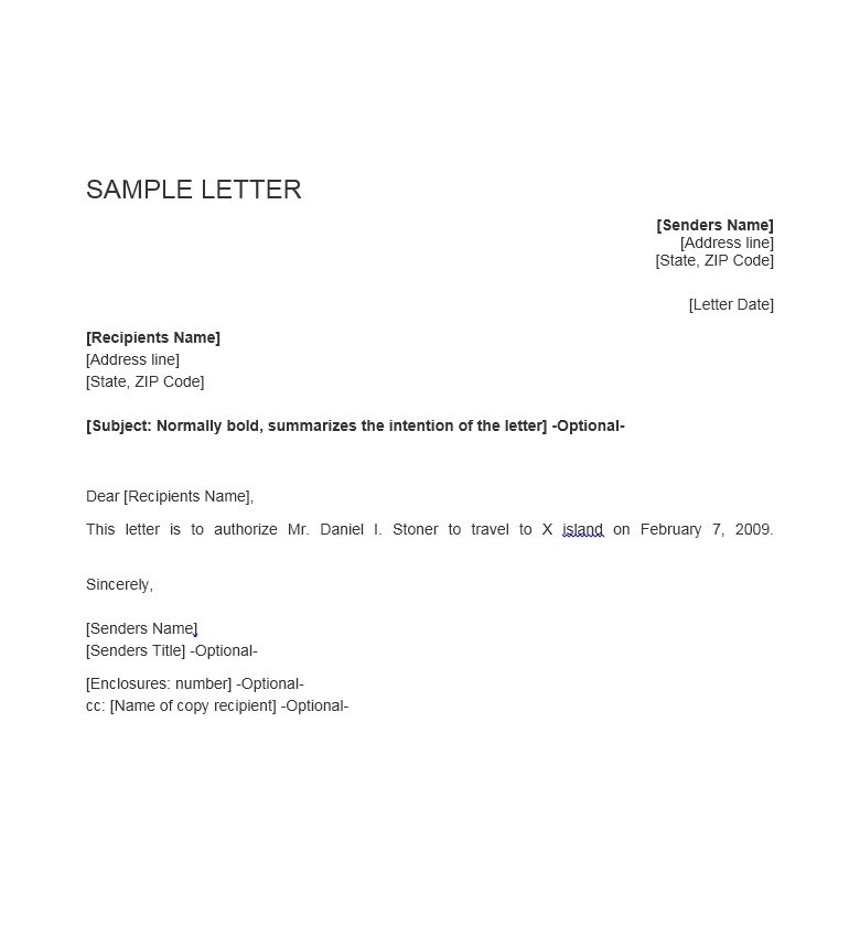 18+ Travel Authorization Letter Examples - PDF - letters of authorization