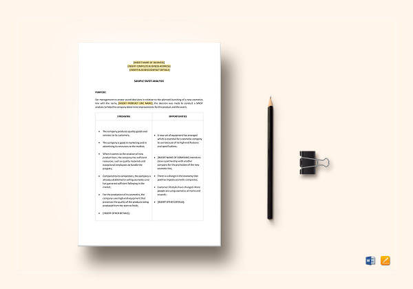 18+ Detailed SWOT Analysis Examples - PDF, Word Examples