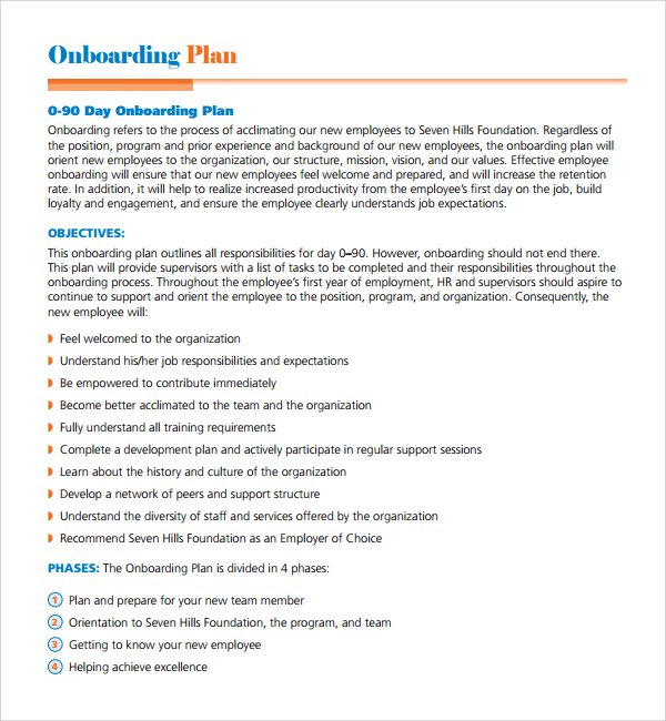 9+ Onboarding 30-60-90\u2013Day Plan Examples - PDF - sample 30 60 90 day plan