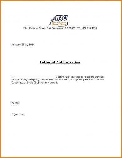 20+ Authorization Letter Format Examples - PDF - passport authorization letter