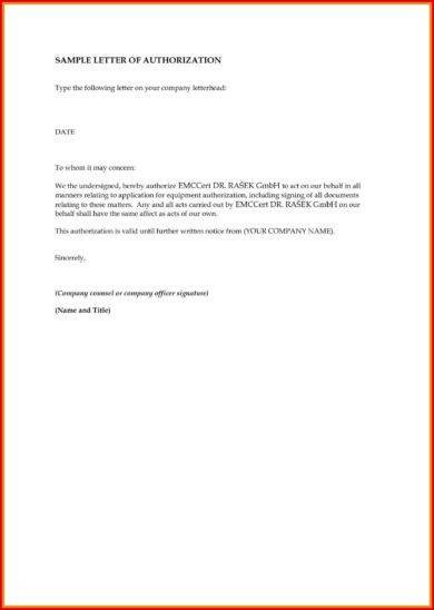 20+ Authorization Letter Format Examples - PDF Examples
