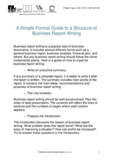 25 Business Report Examples - PDF, DOC - financial analysis report writing