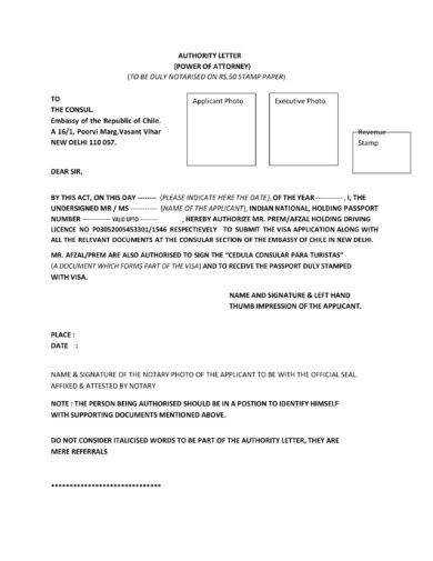 9+ Power of Attorney Authorization Letter Examples Examples