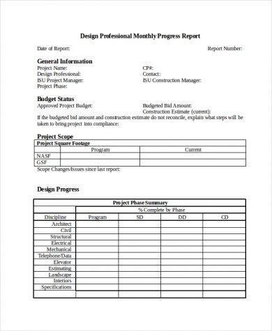 9+ Monthly Status Report Examples - PDF Examples