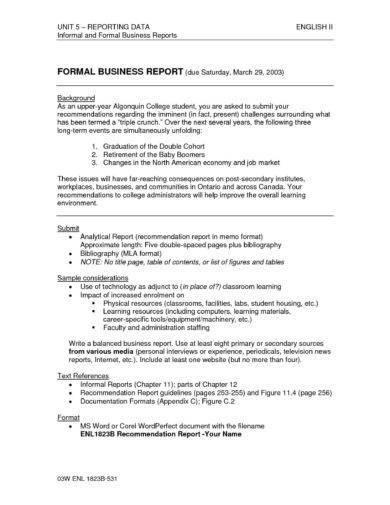 20+ Printable Report Writing Format Examples - PDF