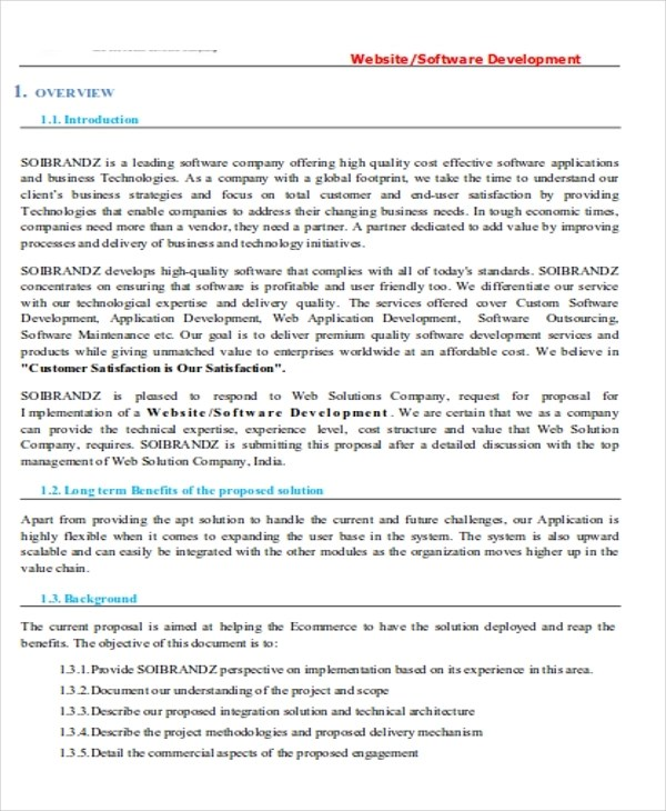 9+ Software Project Proposal Examples - PDF