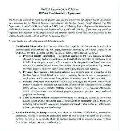 8+ Patient Confidentiality Agreement Examples - volunteer confidentiality agreement