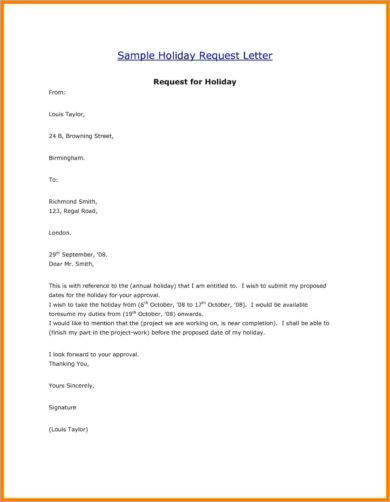 9+ Official Letter for Leave Examples - PDF Examples