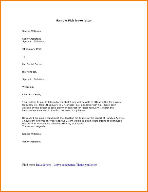 11+ Official Medical Leave Letter Examples - PDF