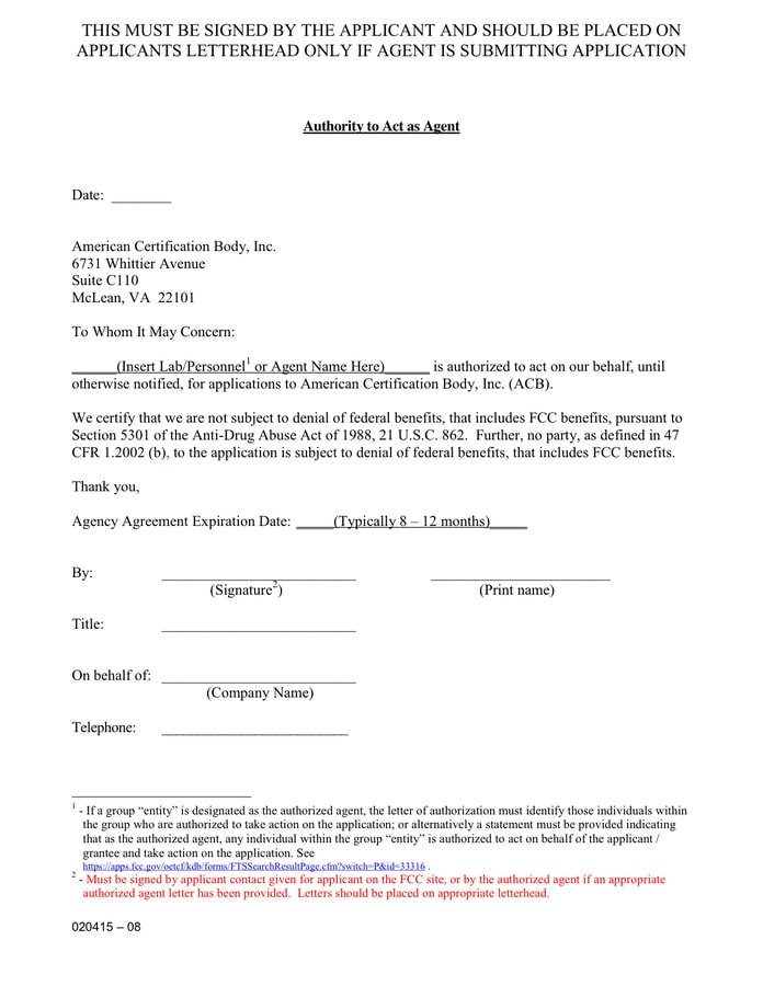 9+ Agent Authorization Letter Examples - PDF