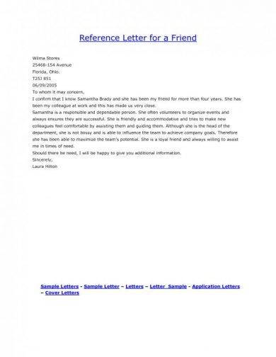 9+ Personal Reference Letter Examples - PDF