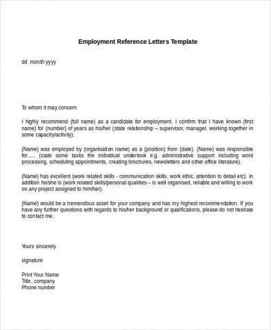 9+ Personal Reference Letter Examples - PDF - personal reference
